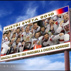 Hokejový billboard