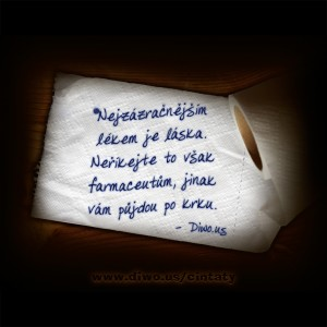 Nejzázračnějším lékem je láska...