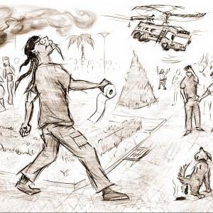 """Ilustrace humorných povídek """"Můj den Blbec!"""" č. 1"""