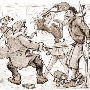 """Ilustrace humorných povídek """"Můj den Blbec!"""" č. 3"""