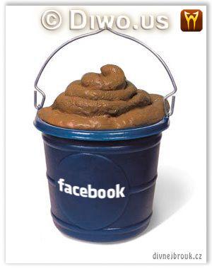 Divnej Brouk - Facebook - pail, bucket full of shit, logo, kbelík, kýbl hoven, plný sraček