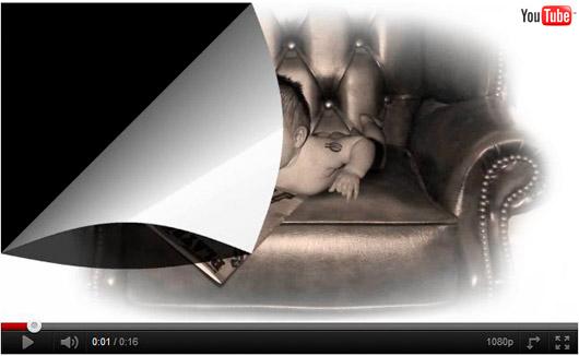 Divnej Brouk - Playboy Baby ! , Chlap se nezapře! , mimino, kožené viktoriánské křeslo, starožitnost, starý časopis Playboy, retro, srandička, vtípek, YouTube