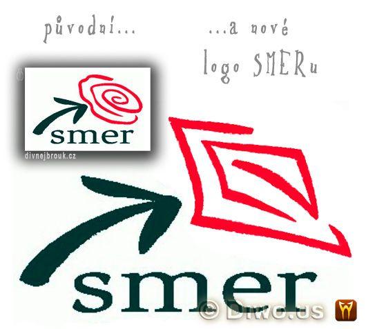 Divnej Brouk - SMER - sociálna demokracia - nové logo, piča