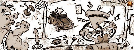 Diwous - humorné povídky, cyklus Jak dobÍt svět, Jak jsem jel vlevo, Anglie, BESIP odznak, bidet, bitva u Lipan, Británie, brnění, bulva, Ducati, fontána, hever, hnědoši, humor, Irsko, Japonsko, jízda, kamión Tatra, KFC, kindervajíčko, Malta, Mini Cooper, obratel, pracovní úřad, pravidla silničního provozu, převodovka, rozbrušovačka, sádlo, Země za zrcadlem, znak Evropské unie EU, zrcadlovky