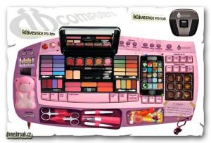 Diwous aka Divnej Brouk - Klávesnice pro ženy, pro muže, růžová, make-up, čokoláda, manikůra, mobil, rtěnky, léky, bonbóny, přívěsek, smajlíky