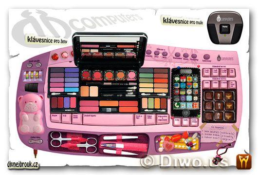 divnej brouk - klávesnice pro ženy, růžová klávesnice pro blondýny, pro muže, klavesnice pro zeny, DB Computers, pink keyboard for women