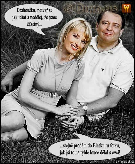 divnej brouk - Jiří Jyrka Paroubek, Petra Paroubková, louka, Blesk, ovce, zoofilie
