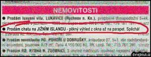 Diwous - Chata na Islandu - výbuch sopky, Bárdarbunga, Eldfell, Eyjafjallajökull, humor, Inzerát, Katla, nemovitosti, vtip, Divnej Brouk