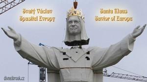 Diwous - obří socha, Václav Klaus - spasitel Evropy, Ježíš, Polsko, Česká republika, největší na světě, vtip, humor, largest Jesus statue, nejvyšší, Santa Claus, World's tallest