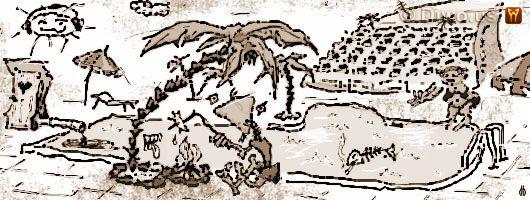 Diwous - humorné povídky, cyklus Jak dobÍt svět, Jak jsem zmastil dovolenou, Agassi, Algida, Arnold Schwarzenegger, barracuda, Dřevoplech, dvojitý Nelson, Ferda Mravenec, hotelový bazén komplex, Hurvínek, igelitka Lidl, kadibudka, Kurt Cobain, Russell, Marta Kubišová, mastňák, Metrostav, odpíchnutý Rittberger, palma, Paralympiáda, paštikář, Poseidón, ropovod Družba, Sampras, síť na motýly, slunečník, Šmoulové, swingers party, Vitana