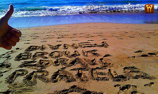 Diwous aka Divnej Brouk - červený písek, Karibik, pláž, pozdrav od moře, příboj, surfařský ráj, surfing, vlny