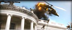 Diwous - recenze - Útok na Bílý dům - vrtulník