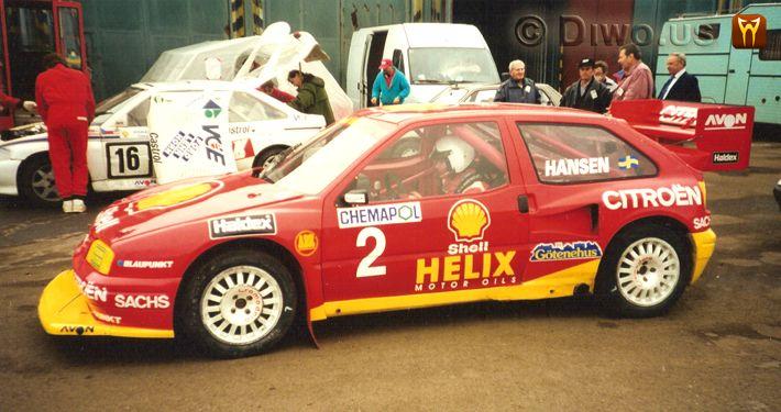 Diwous - Kenneth Hansen, Mistrovství Evropy, rallycross, autodrom Sosnová, Česká Lípa, Švéd, vítěz, Citroen, Sachs, Helix, soutěžní speciál, závodní auto