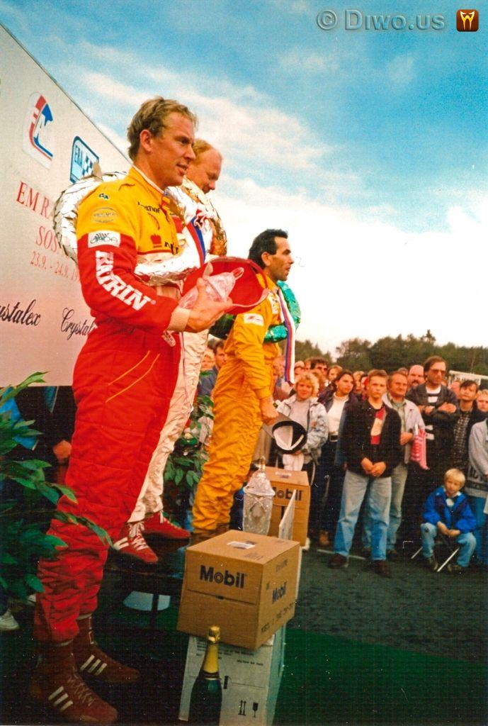 Diwous - rallycross, Mistrovství Evropy, autodrom Sosnová, Česká Lípa, vyhlášení vítězů, stupně