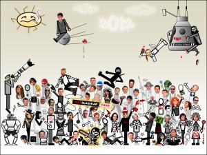 Diwous - FUJ!SLABIKÁŘ Fans 2012, angry bird, Ema, fanclub, Josef Kokta, nahý Terminátor, Redbull Stratos, Ruda z Ostravy, sputnik, teleobjektiv Canon, zhulené sluníčko