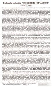 Diwous - Bikerská pohádka, originál, Trek Five O, O sedmero krkancích, krkavcích, Gary Fisher, Keith Bontrager, Zdeněk Pól, Bike Fest, Schwinn, vodovodní cesta, Brandon Walsh, Zaskar, Reta, Volvo Cannondale, Kája Polívková, Rock Shox Boxxer Pro, Formula, Alibaba a 40, Bohosudov, Bajaja, Špindl, MS, downhill, sjezd, Tomáš Taich, Sedlčany, Merida, Libor Maryška, Vlastimil Hynčica, Bunny Hop, Shimano Airlines, Rocky Mountain, Magura, Spinergy, Middleburn, Giovana Bonnazi, Race Face Turbine, Onza, Titec, Troy Lee Designs, Hot Chili Warp, Edge, Fox, Ritchey, Michal Vokolek, Kangaroo-Sachs