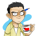 JaGo Dibuja - Jhon Alexander Guerra, author, comics, strips, Living with HipsterGirl and GamerGirl, selfie, self portrait, drawn