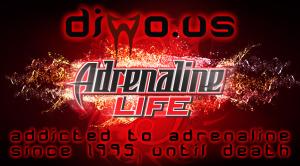 Diwous - Adrenaline Life - logo, addicted to adrenalin, Adrenalinový život, dobrodružství, extreme sports, extrémní sporty, nebezpečí, outdoor, závislost na adrenalinu