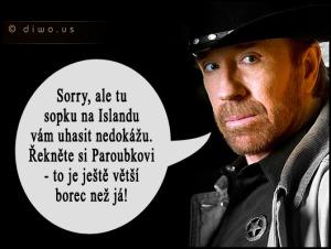 Diwous - Chuck Norris - sopka na Islandu, Bárdarbunga, Eldfell, Eyjafjallajökull, humor, Jiří Paroubek, Katla, vtip, výbuch sopky
