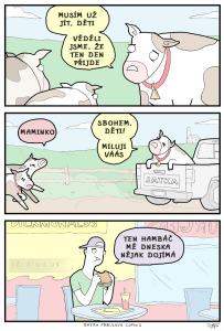Diwous - McDonald's, černý humor, kráva, tele, hamburger, hambáč, jatka, vtip
