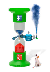 Diwous - Facebook, Google Plus, Sandglass, přesýpací hodiny, pes, modrá, červená, pilulka, Matrix