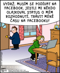 Diwous - Závislost na Facebooku, Facebook, status, lajk, like, vtip, humor, droga