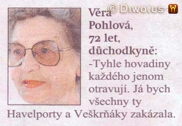 Diwous - Věra Pohlová - Letiště Václava Havla - Havelport, humor, Praha, Veškrňák, vtip