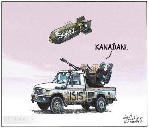 Diwous - Kanada, ISIS, bomba, Islámský stát, vtip, humor, Islám, Muslimové, bojovníci, spojenecká vojska