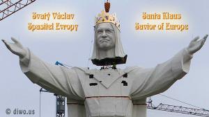 Diwous - obří socha, Václav Klaus - spasitel Evropy, Ježíš, Polsko, Česká republika, největší na světě, vtip, humor