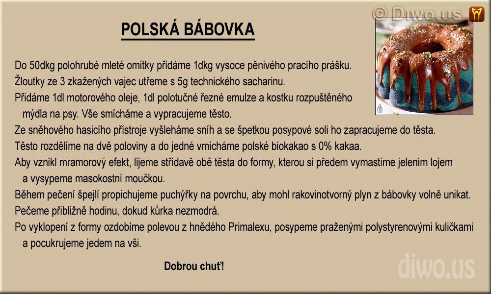 Diwous - Polská bábovka - recept, humor, kauza, polská bábovka, polské potraviny, posypová sůl, recept, vtip