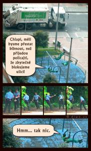 Diwous - Popeláři a Policajti, Česká republika, houpačka, humor, pingpong, Policie ČR, pracovní doba, služba, tenis, vtip