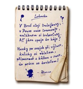 Diwous - Diwousovy Rýmy, žertovné, humorné básničky, verše, veršovánky, říkanky, rýmovačky, básně, sranda, legrace, satira, č.2, Ledovka, MHD, náledí, Praha, Brno, autobus, tramvaj, trolejbus