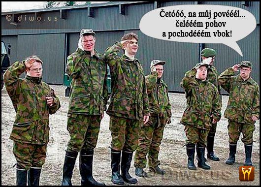 Diwous - Zvláštní jednotka, mentálně postižení vojáci, armáda, černý humor, Jedličkárna, menpos, mentálně postižení, vojenské cvičení, vtip, politicky nekorektní