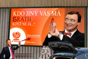 Diwous - billboard, David Rath, Miroslav Macek, vtip, humor, sprejer, vandal, ČSSD, ODS, Fuck Off, spor, Macka facka