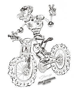 Diwous - downhiller, freerider, Haro bike, cartoon, comics