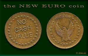 Diwous - Nové euro mince, humor, No cash value, New coin, vtip