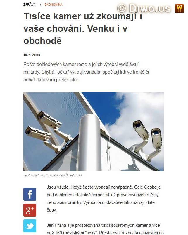 Diwous - bezpečnostní kamera, Big Brother, CCTV, George Orwell, kamerový systém CCTV, kamery, špehování, Velký Bratr tě sleduje!