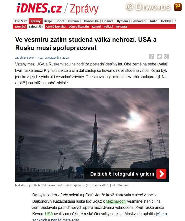 Diwous - cikáni, ISS, krize, Krymský konflikt, rusko-americké vztahy, sankce, studená válka, vesmírný program