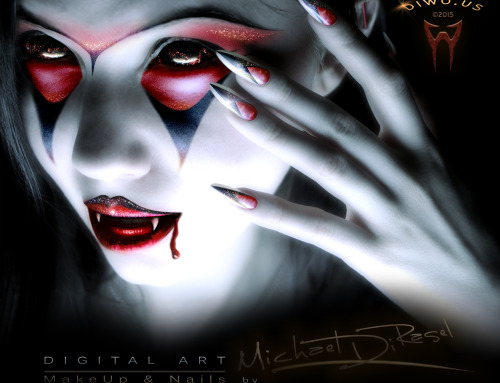 Vampire Girl – Digital Art