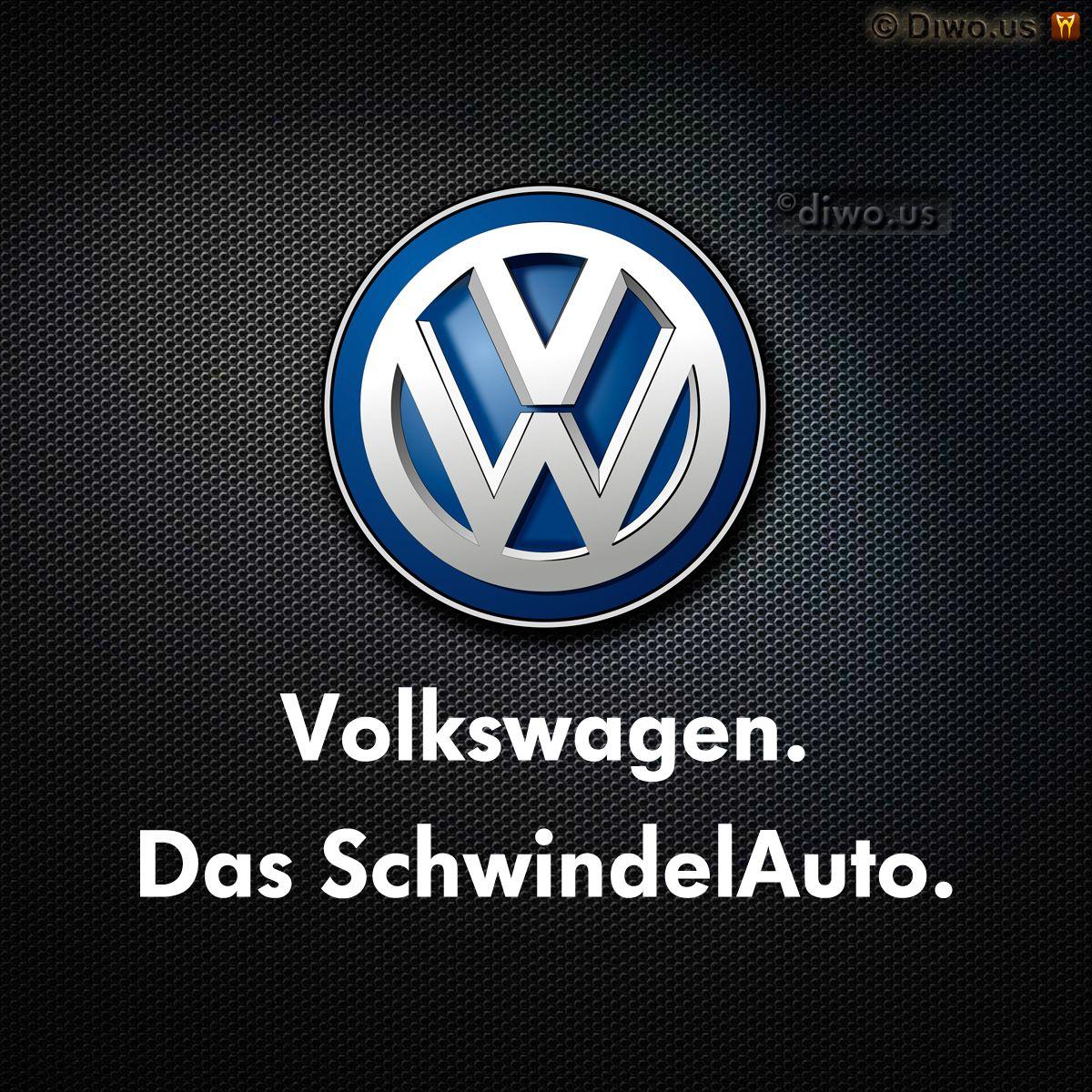 Diwous - Das SchwindelAuto, Volkswagen, Das Auto, scandal, cheat, cheating software, podvodný software, emise, skandál, aféra, emissions, EPA, engine, motor, STK, auto, schwindel, švindl, švindlauto, joke, vtip, logo