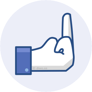 Diwous - Facebook Reactions - Fuck Off, like or dislike