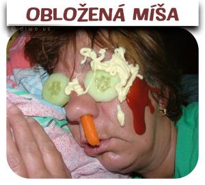 Diwous - Obložená Míša, obložená mísa, party, prank, zlomyslný, škodolibý, vtípek, fórek, legrácka, srandička, spící opilá žena, kečup, hořčice, okurka, mrkev, majonéza
