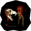 Diwous, savage, scary horror, wolf skull, steppe, coyote, jackal, teeth, long beard, yellow eyes, šakal, kojot, stepní vlk, lebka, svítící žluté oči, vlčí, zuby, tesáky,