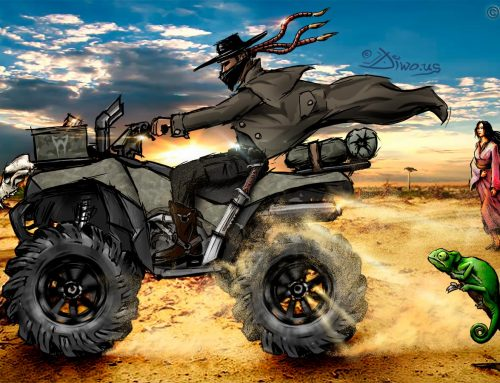 Quad Rider – Madagascar, photoillustration