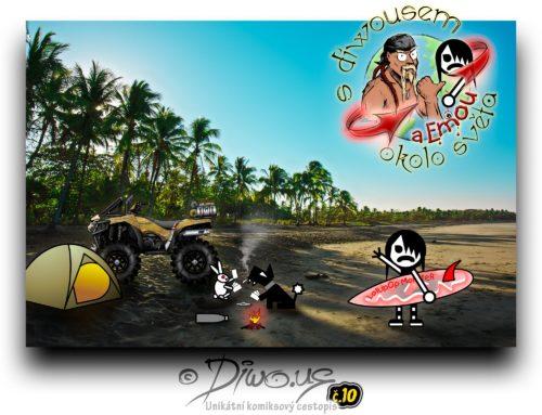 s Diwousem a Emou okolo světa – díl 10 – Surfování v Karibiku