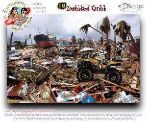 Diwous - s Diwousem a Emou okolo světa - díl 13 – Zombieland Karibik, Zombie Apocalypsa, postapo, postapokalyptická scéna, katastrofa, převržená loď, zdemolované převrácené auto, harampádí, trosky, ruiny, Karibské moře, vyvrácené, zlomené palmy, hurikán, devastace, čtyřkolka Kawasaki Brute Force, quad, palm trees, Caribbean sea, devastation, disaster, hurricane, upset, overturned ship, boat, vessel, car, ruins, rubbish, Harvey, Irma, Maria, José, Katia, 2017