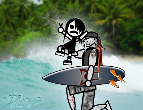 s Diwousem a Emou okolo světa – Surfing